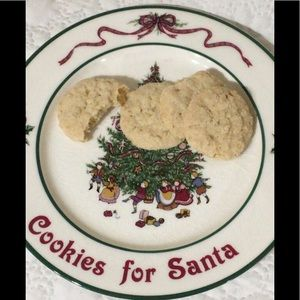 "🦋New Listing🦋""Cookies for Santa"" Plate"